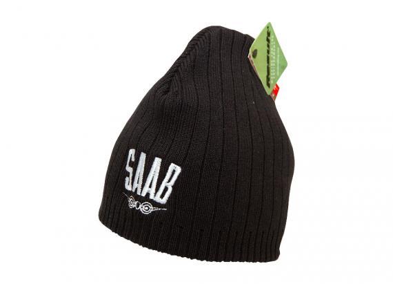Musta pipo vanhalla Saab-logolla